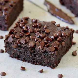 one piece of plant-based gluten-free chocolate cake