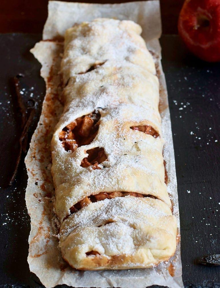vegan puff pastry dessert