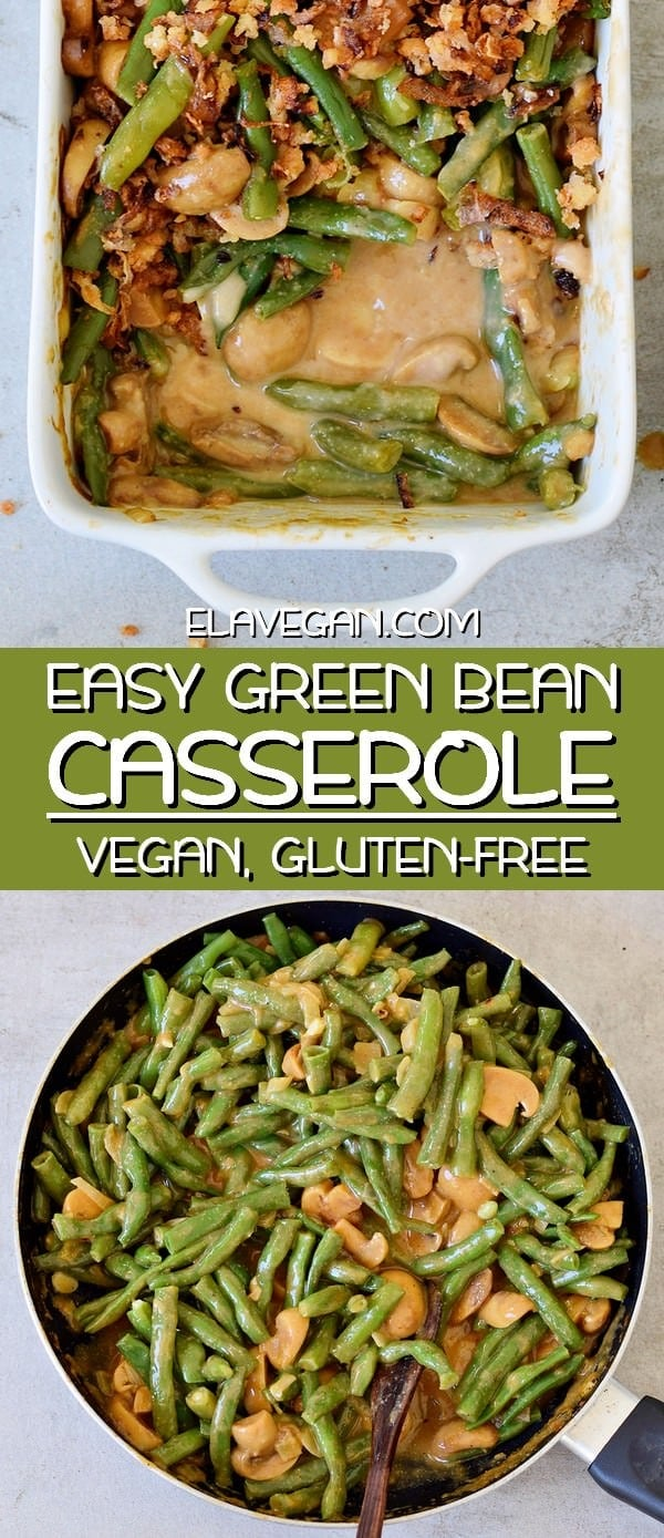 Easy vegan green bean casserole recipe