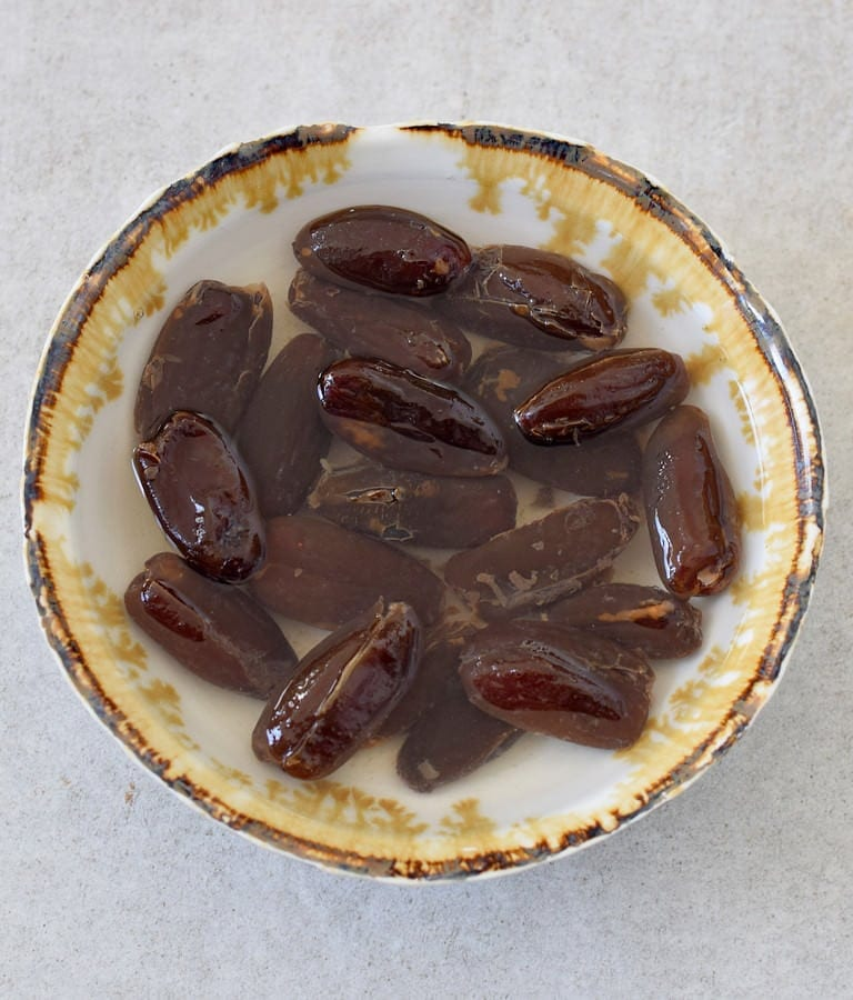 dates soaking in water