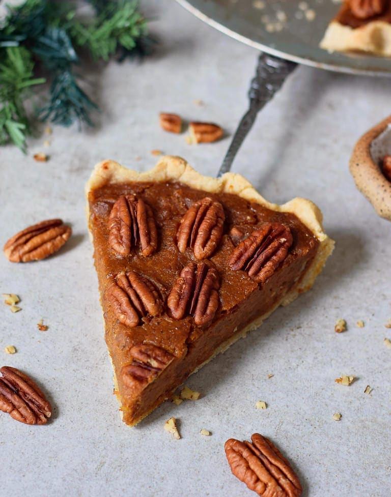 gluten-free pecan pie piece