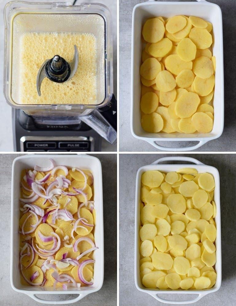 how to make a potato bake with cashew sauce