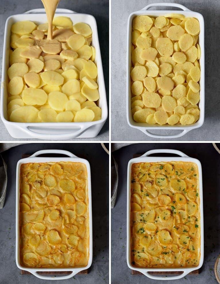 Wie macht man ein veganes Kartoffelgratin