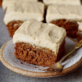 moist spice cake with sugar-free frosting