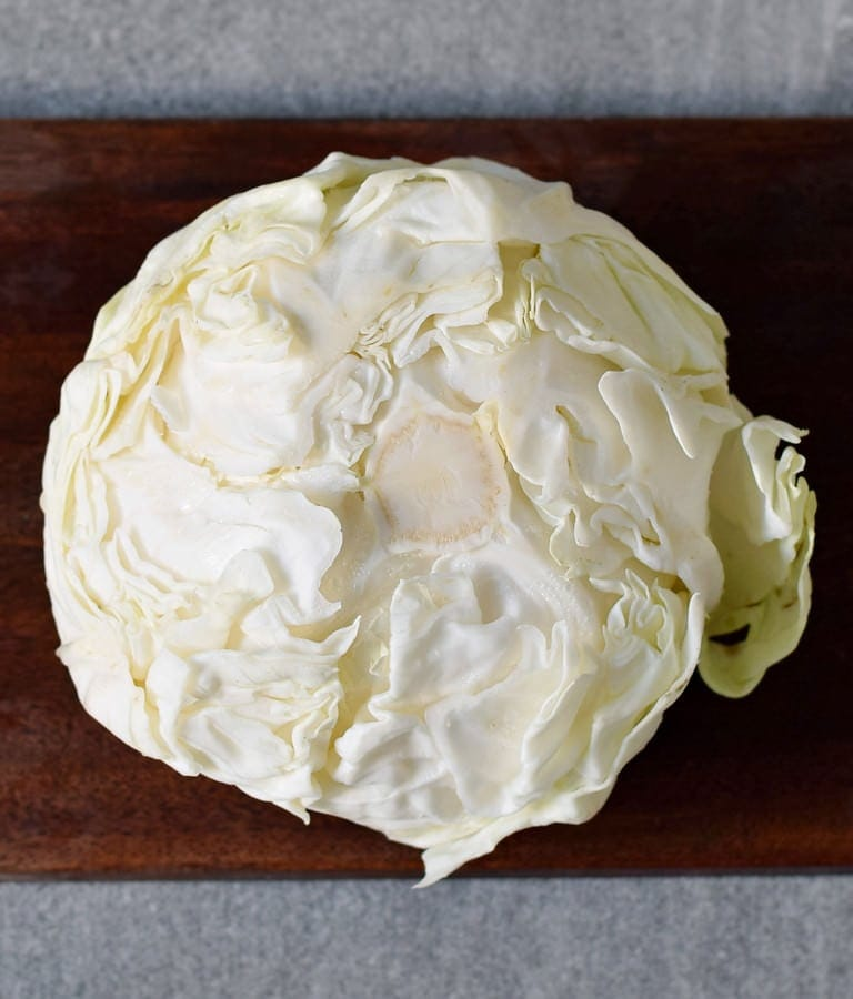 one head of white cabbage