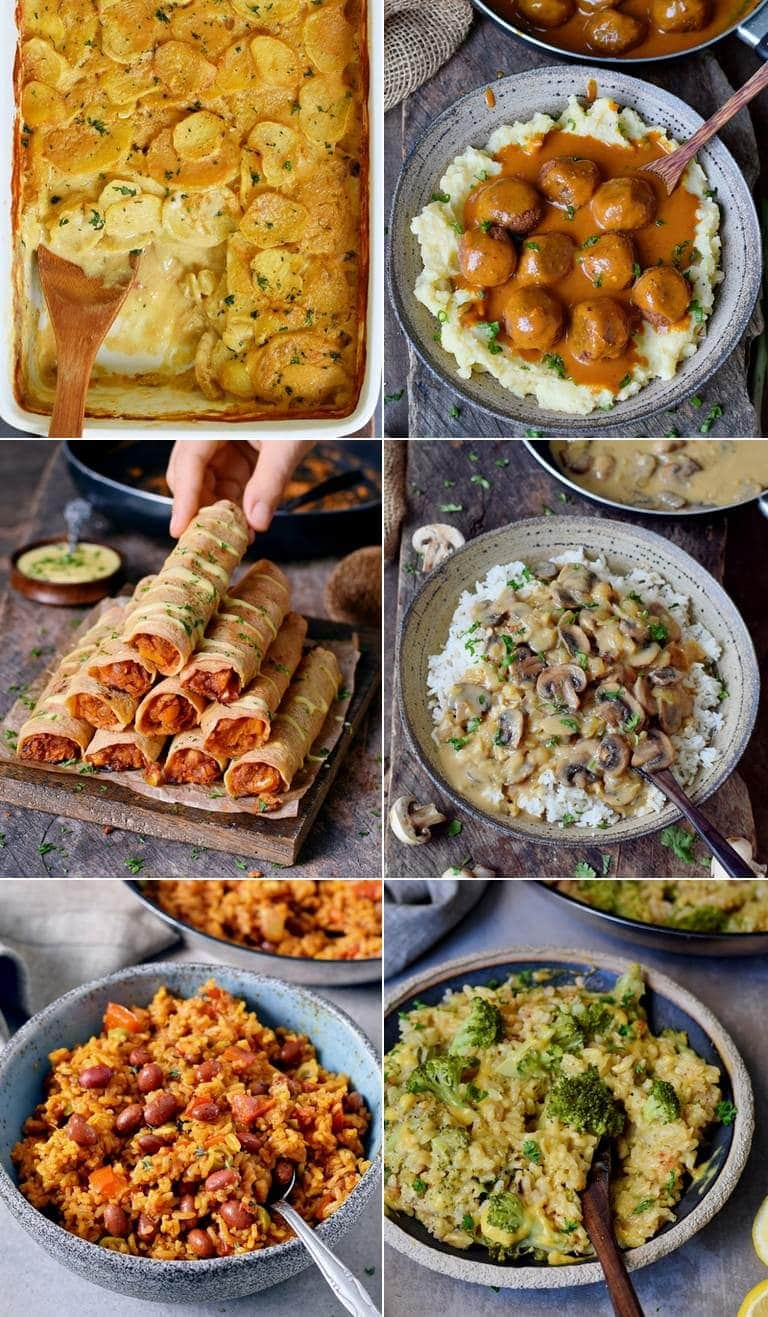 collage of the best vegan dinner recipes