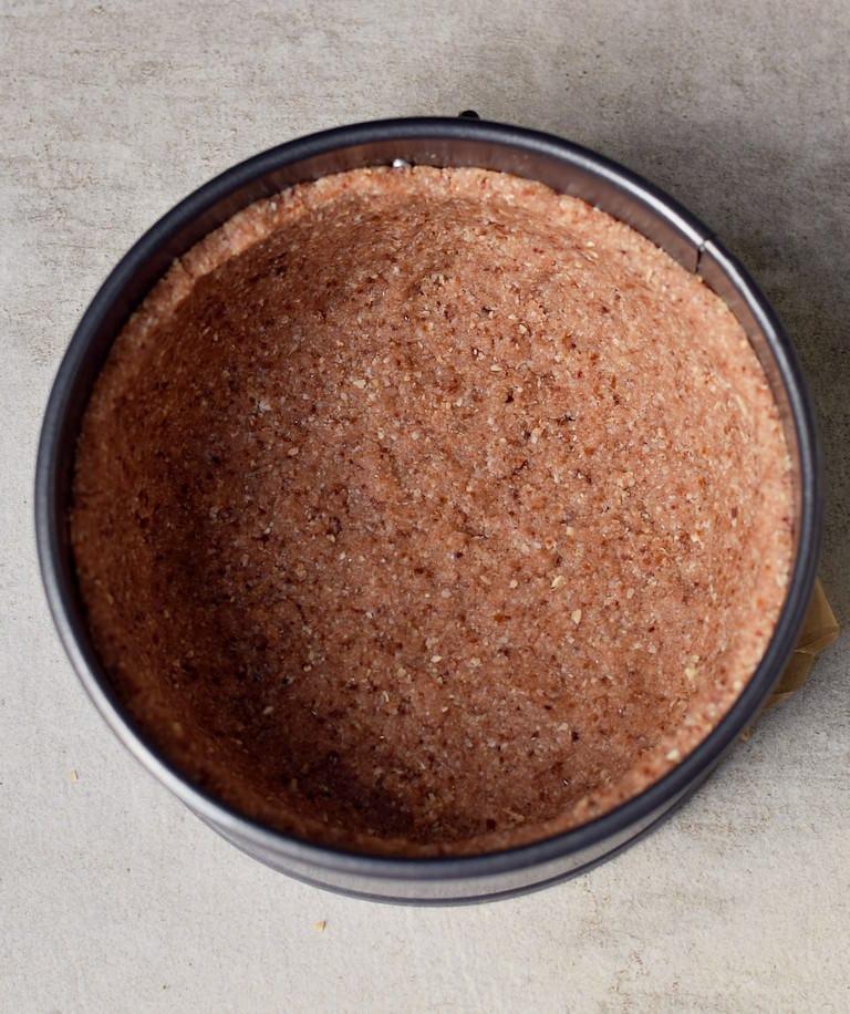 gluten-free no-bake crust in a springform