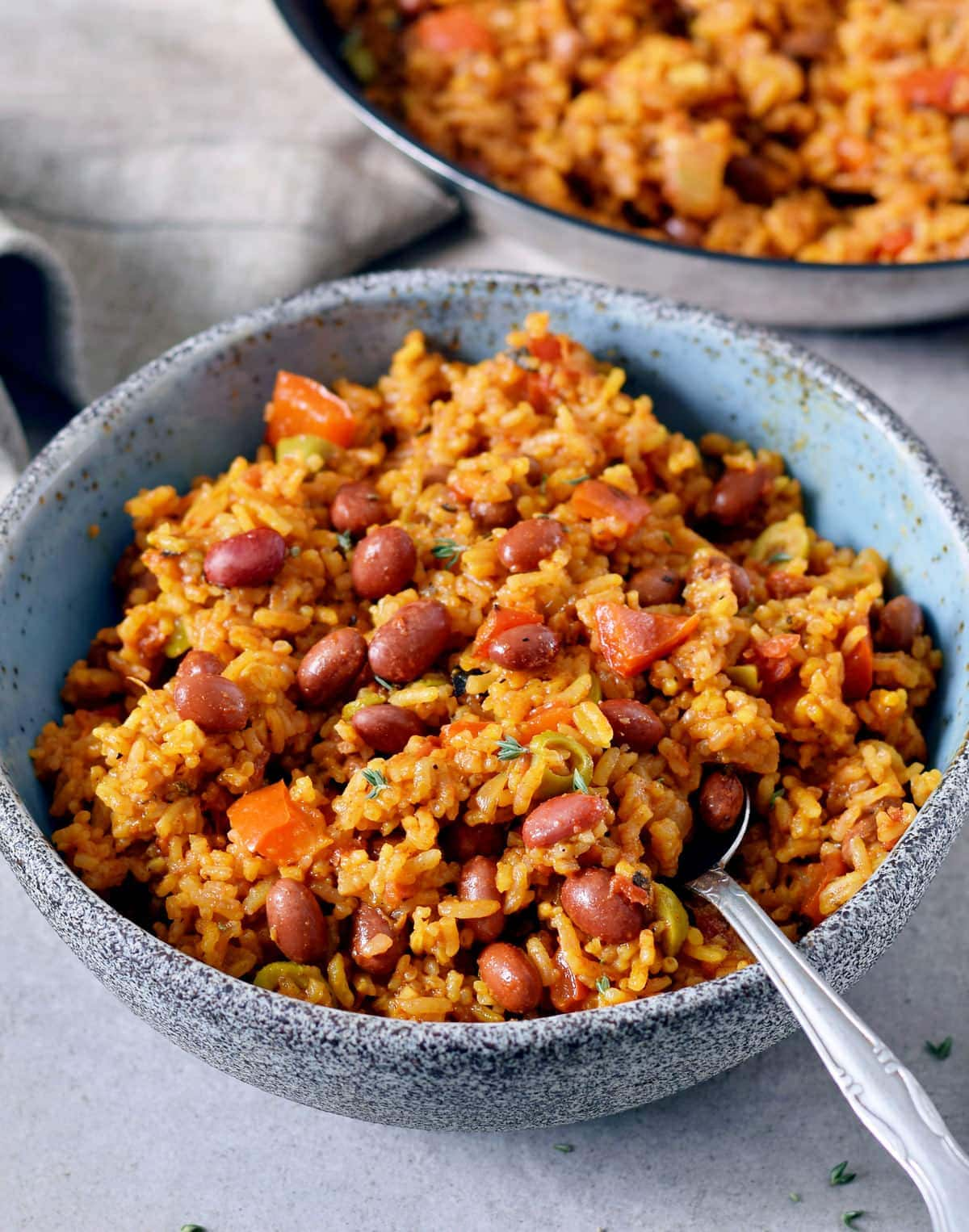 Spanish Rice And Beans Easy Recipe Elavegan Recipes