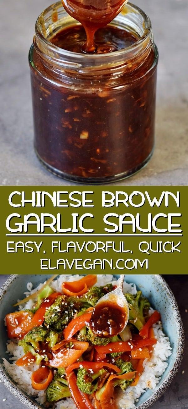 pinterest collage chinese brown garlic sauce