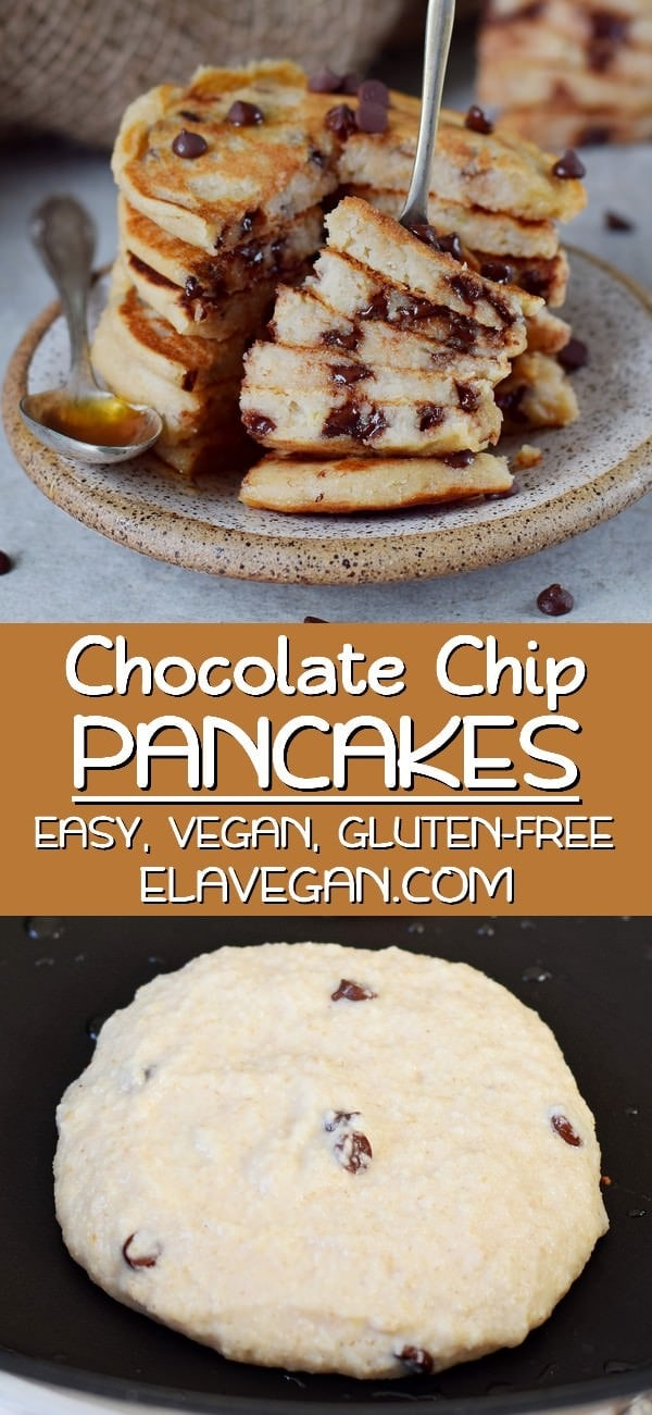 pinterest collage chocolate chip pancakes