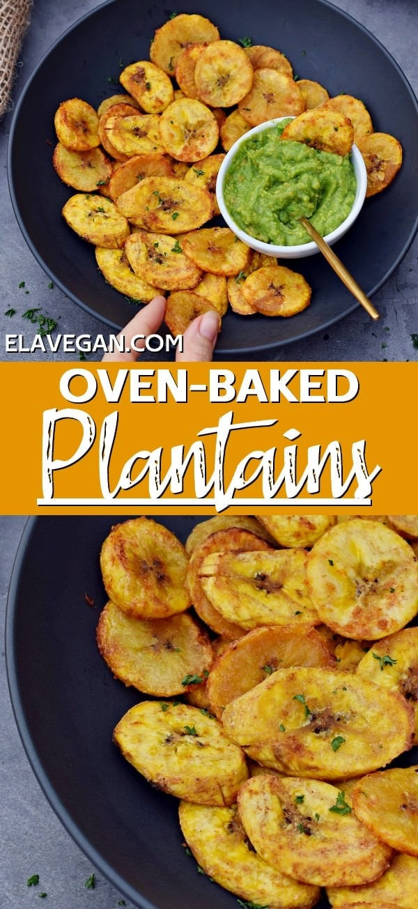 Pinterest Collage Oven Baked Plantains