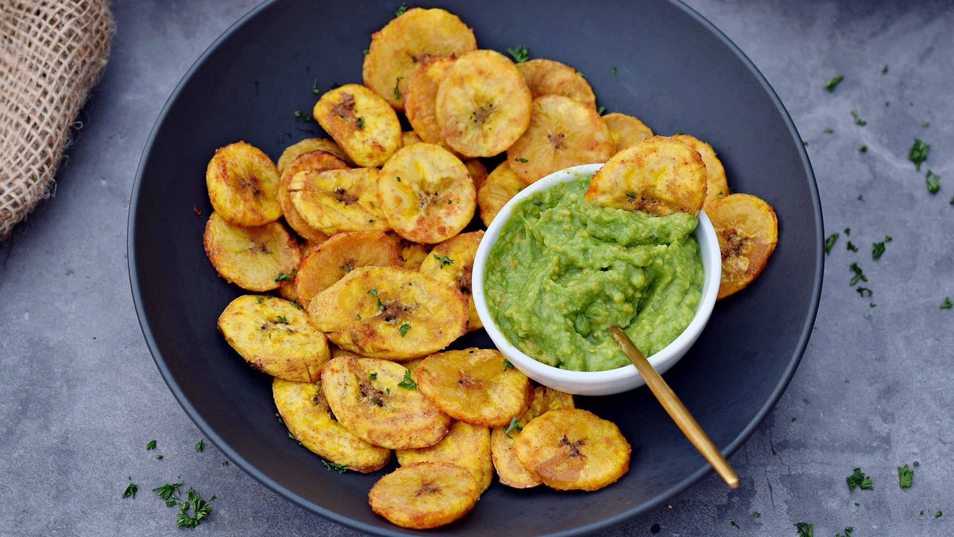 video thumbnail baked plantains with guacamole