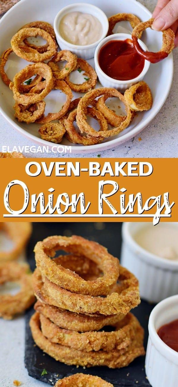 Pinterest Collage Baked Vegan Onion Rings