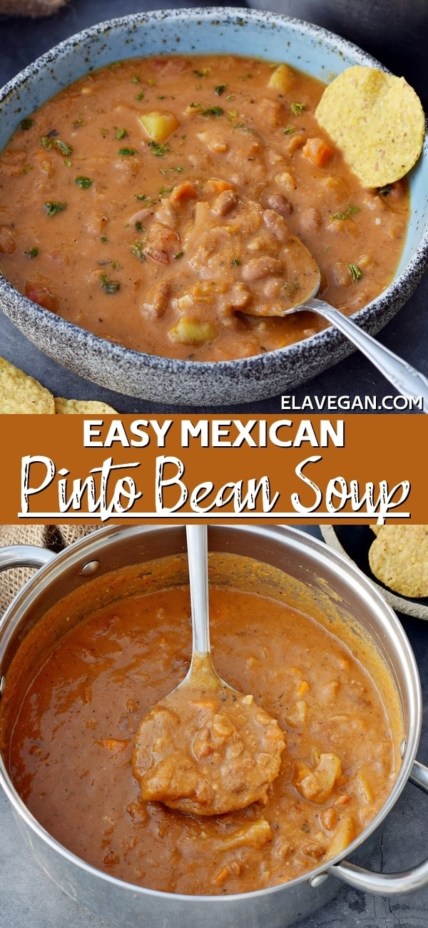 Pinterest Collage Easy Mexican Pinto Bean Soup