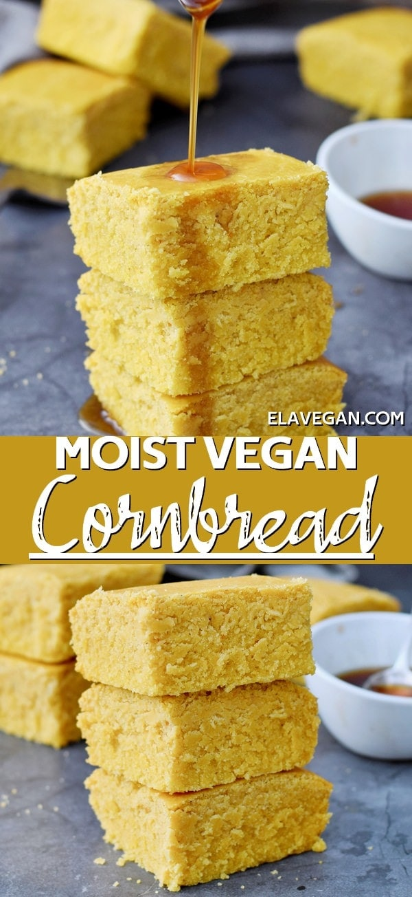 Pinterest Collage Moist Vegan Cornbread