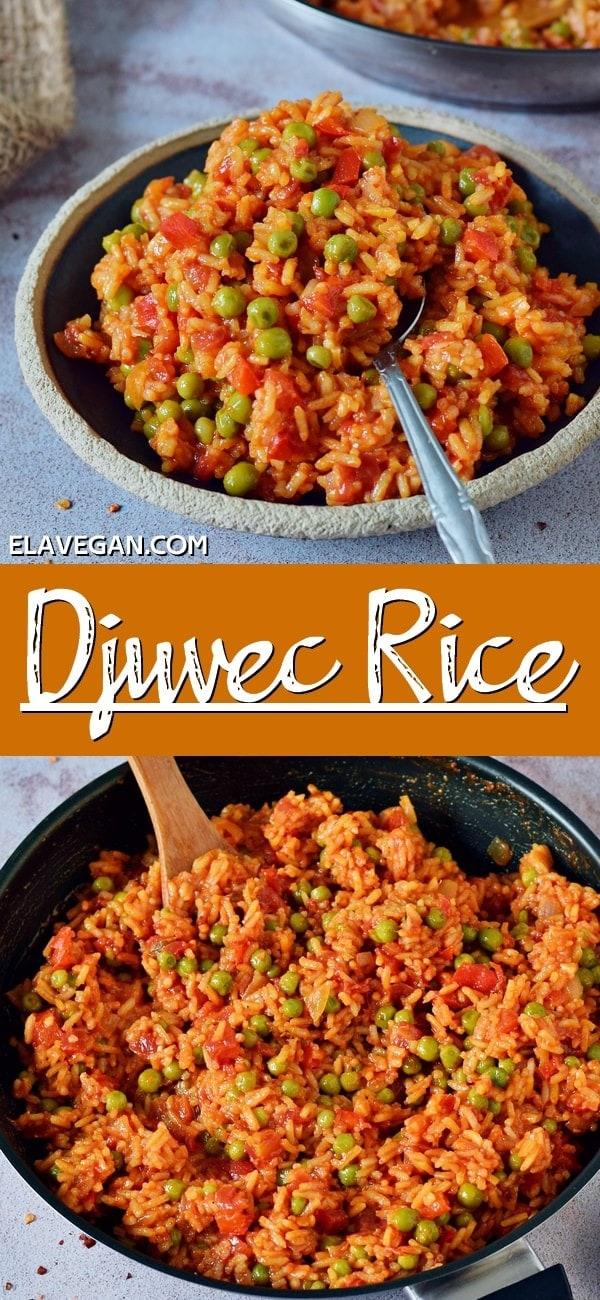 Pinterest Collage of djuvec rice
