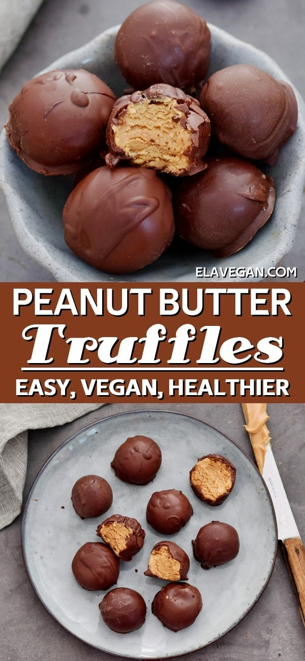 Pinterest Collage peanut butter truffles recipe