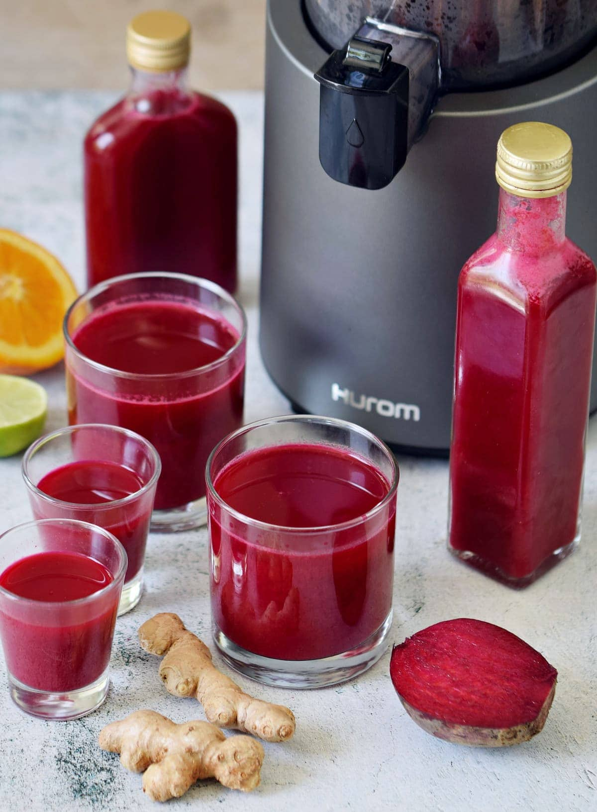 immune boosting juices with Hurom juicer