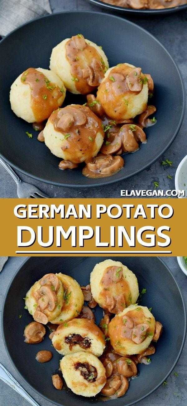 pinterest collage homemade german potato dumplings