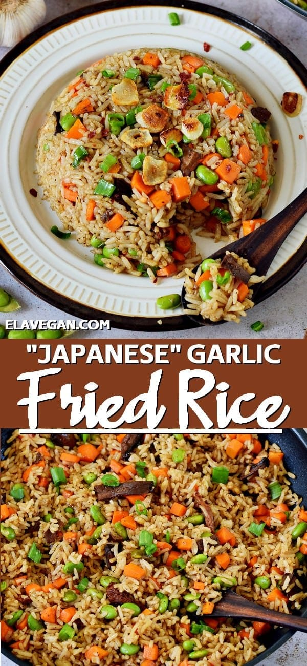 Pinterest Collage Japanese Garlic Fried Rice