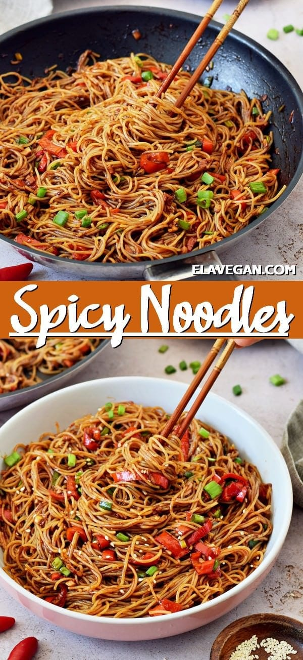Pinterest Collage Spicy Noodles