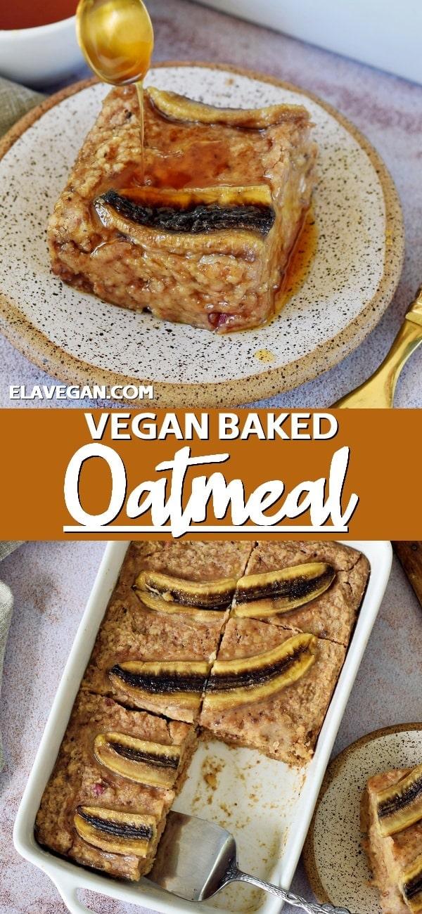 Pinterest Collage Vegan Baked Oatmeal