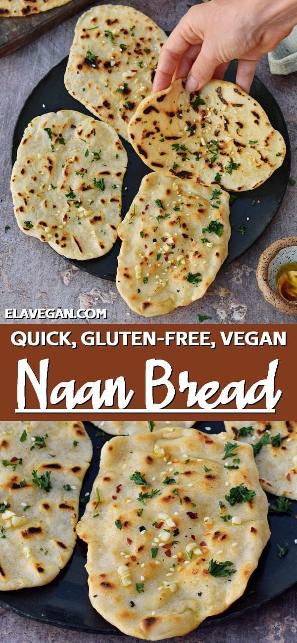 Pinterest Collage gluten-free vegan naan bread
