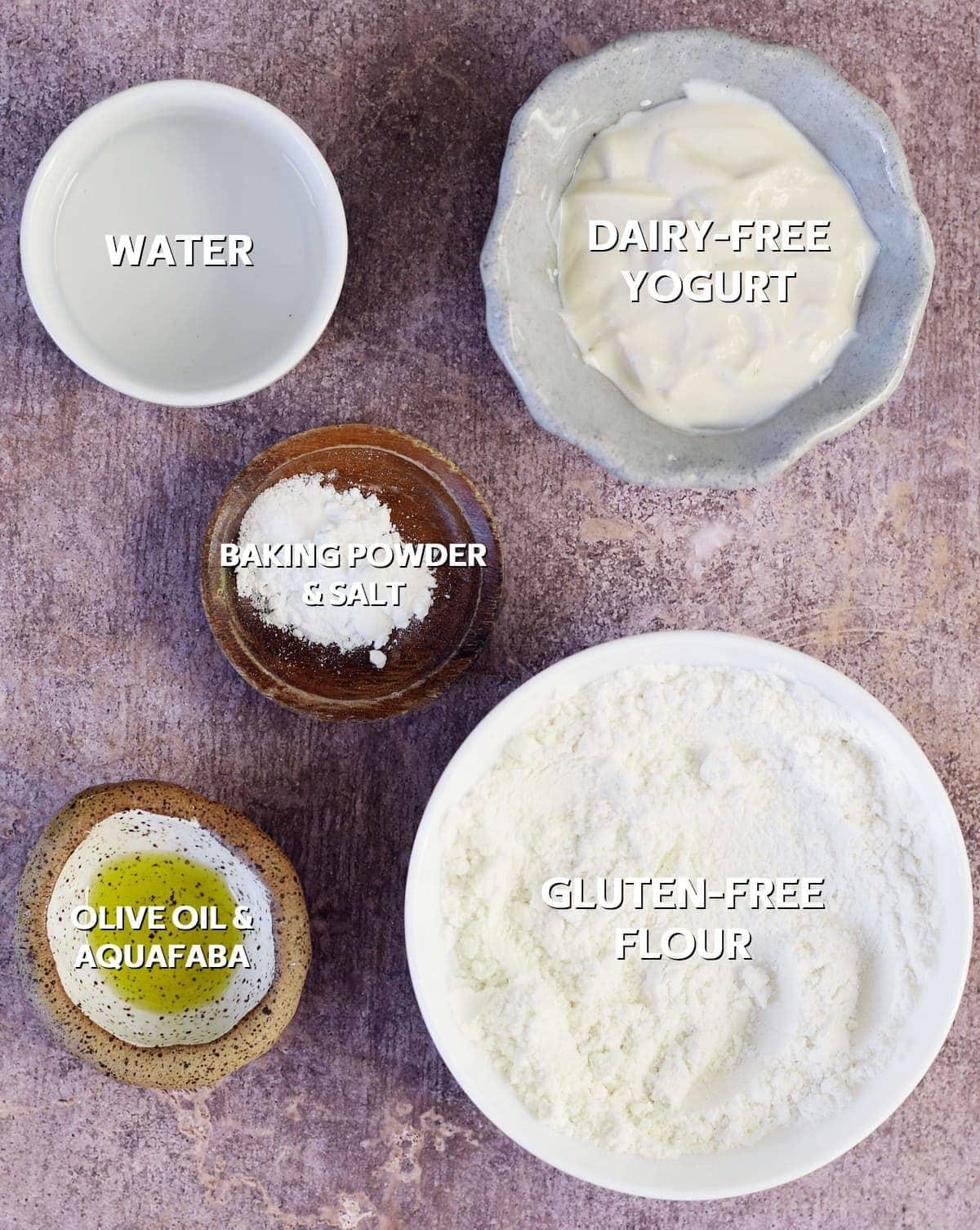 ingredients for naan bread