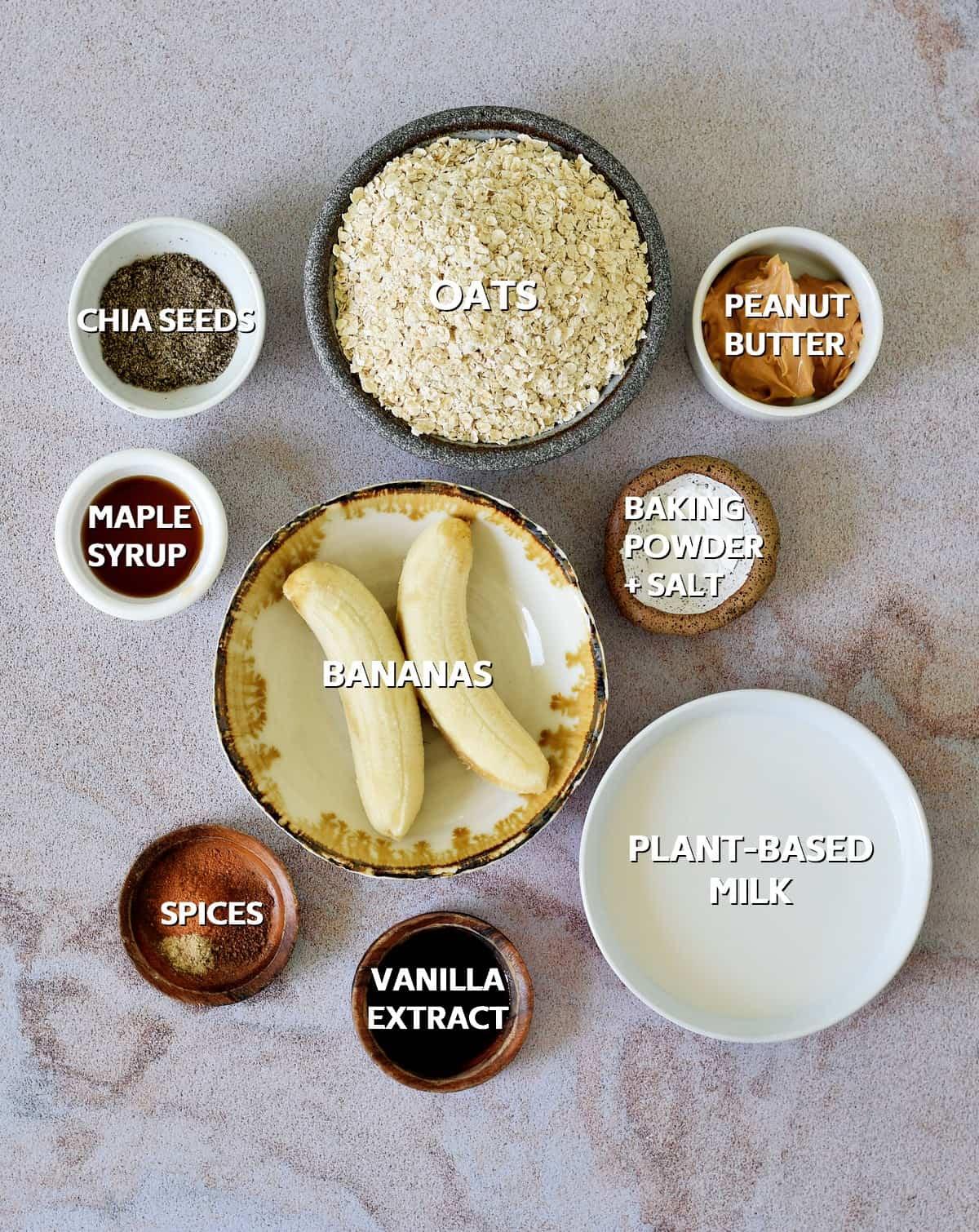 ingredients for oat bake