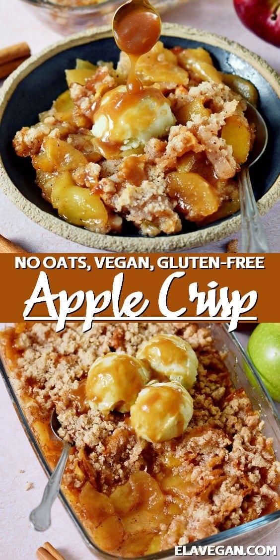 Pinterest Collage Apple Crisp without oats, vegan, gluten-free