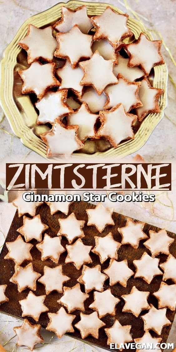 Pinterest Collage Zimtsterne cinnamon star cookies