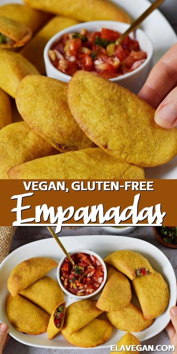 Pinterest Collage vegan, gluten-free empanadas