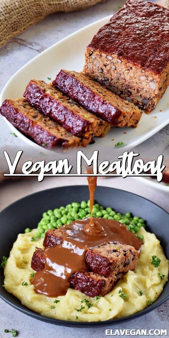 Pinterest Collage vegan meatloaf