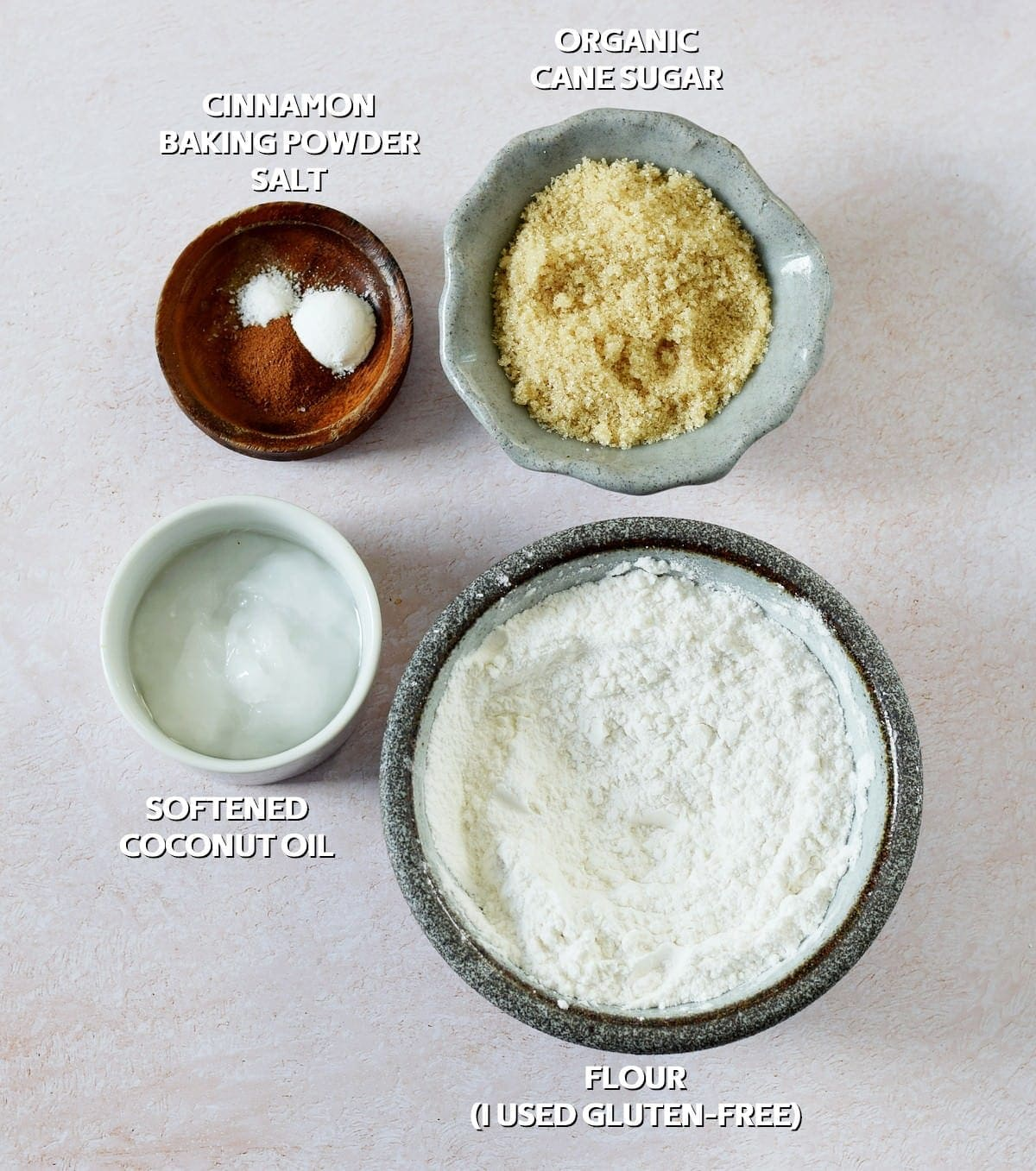 Vegan Crumble ingredients