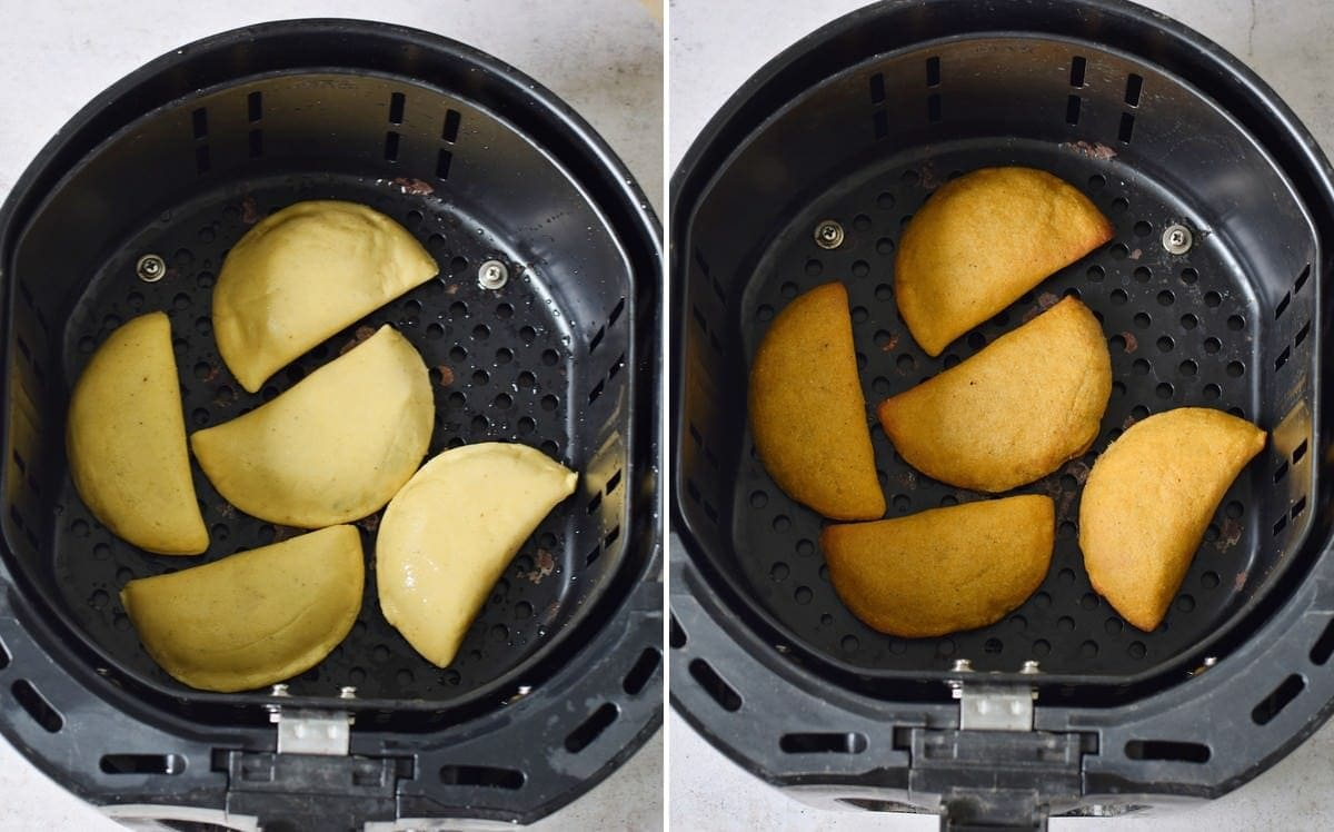 air fryer empanadas before and after