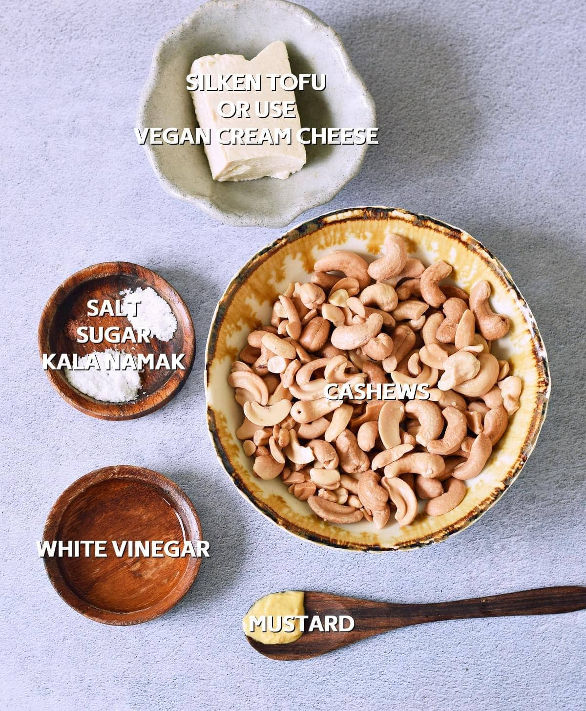 ingredients for vegan mayonnaise
