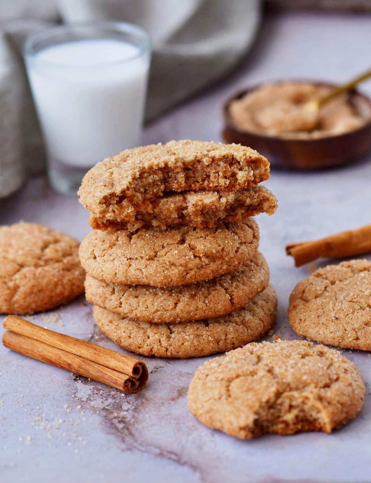 vegan cookies made with cream of tartar