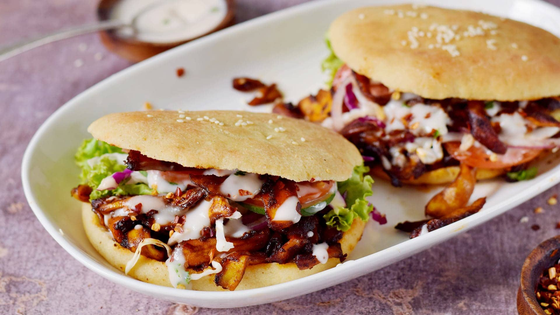 vegan doner kebab sandwiches