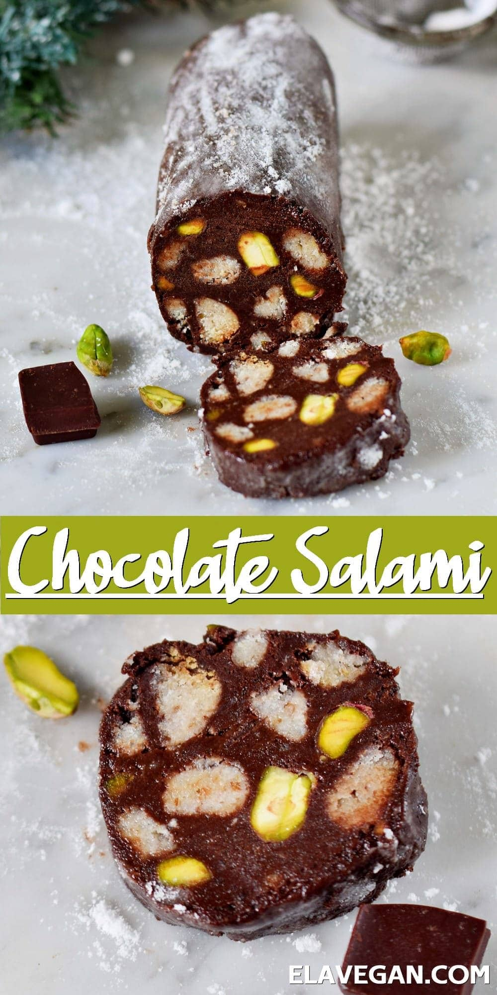Pinterest Collage Chocolate Salami