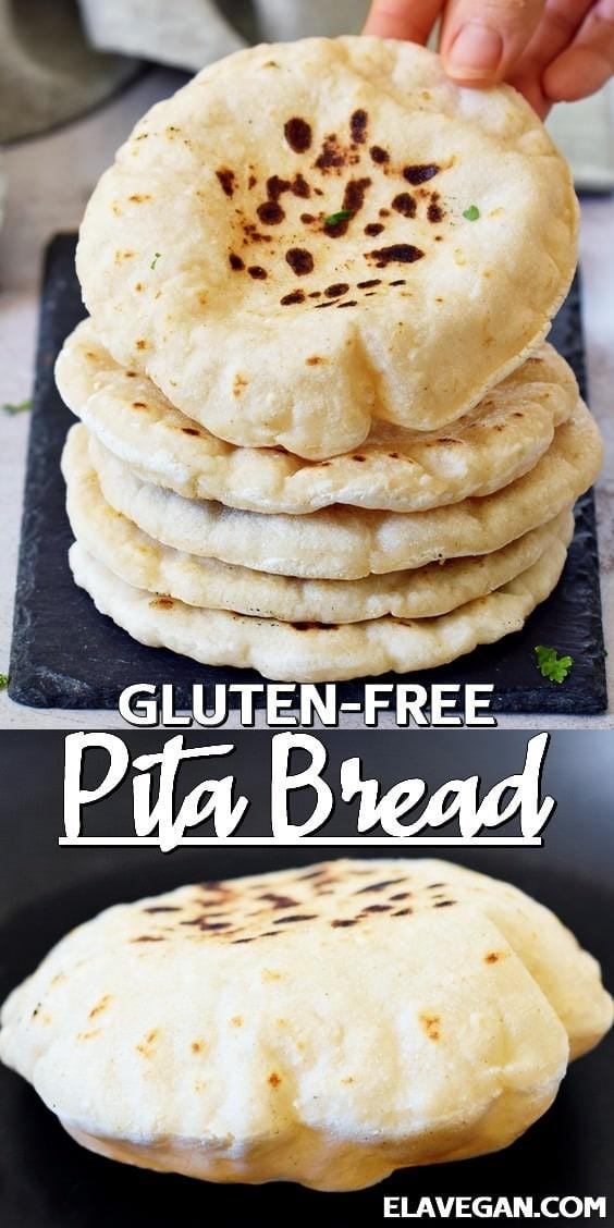 Pinterest Collage Gluten-Free Pita Bread
