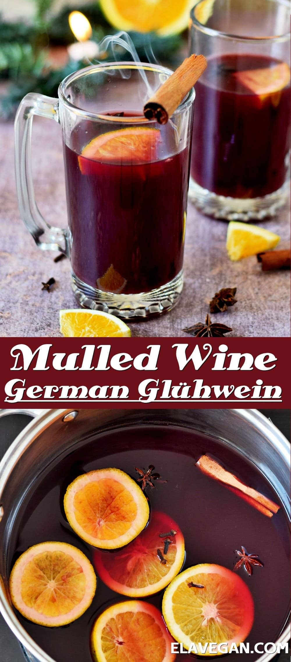 Pinterest Collage mulled wine German Glühwein