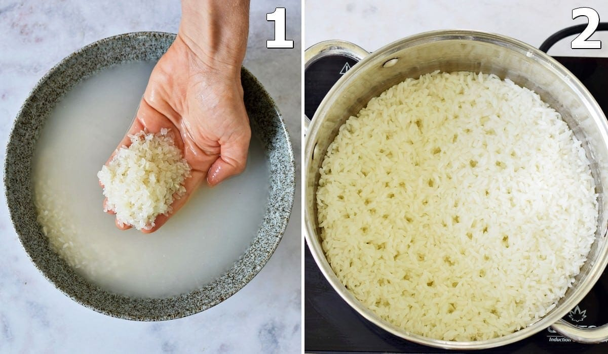 how to soak and cook sushi rice