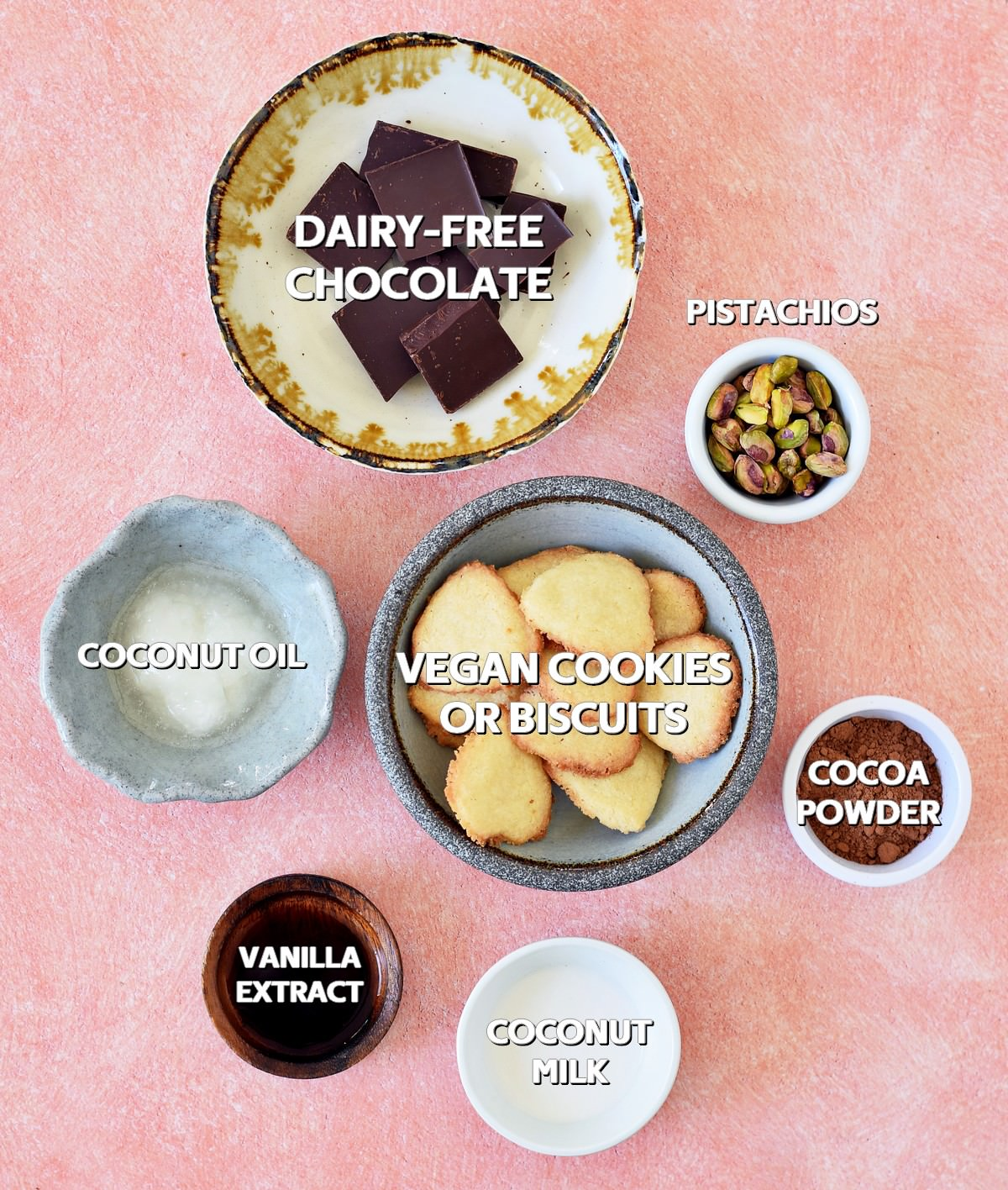 ingredients for chocolate salami