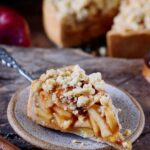 1 piece of vegan apple pie with streusel