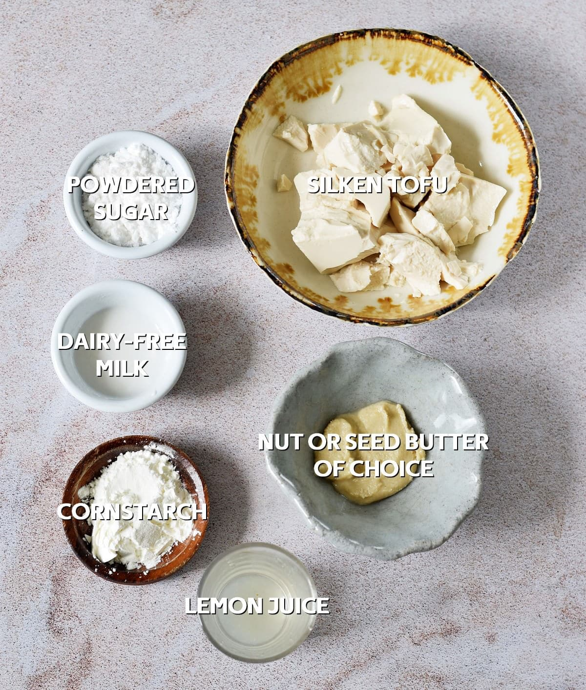Vegan Cheesecake Ingredients