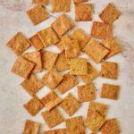 lots of homemade gluten-free keto crackers