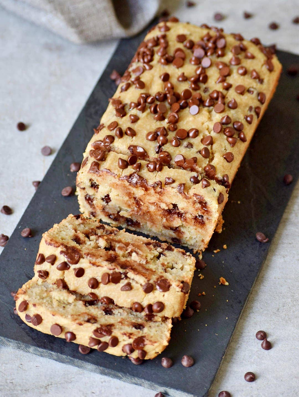 moist gluten-free vegan chocolate chip banana bread