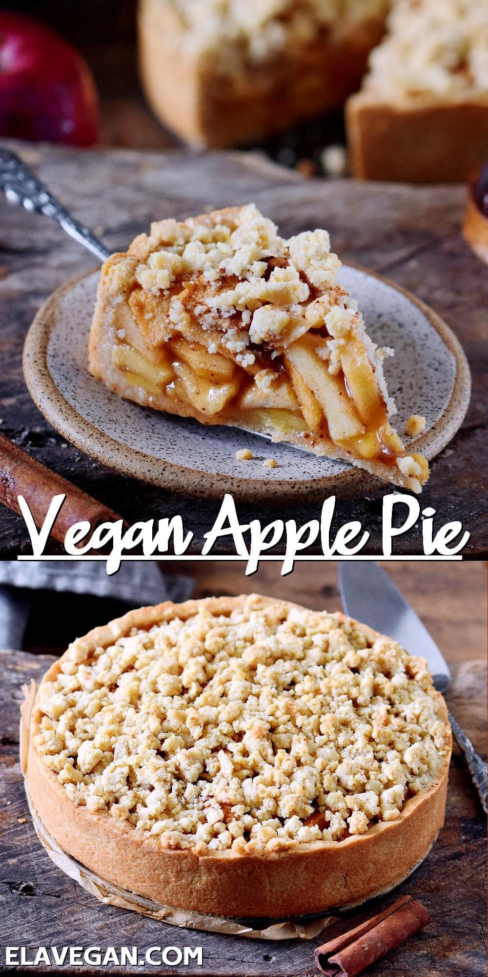 Pinterest Collage Vegan Apple Pie