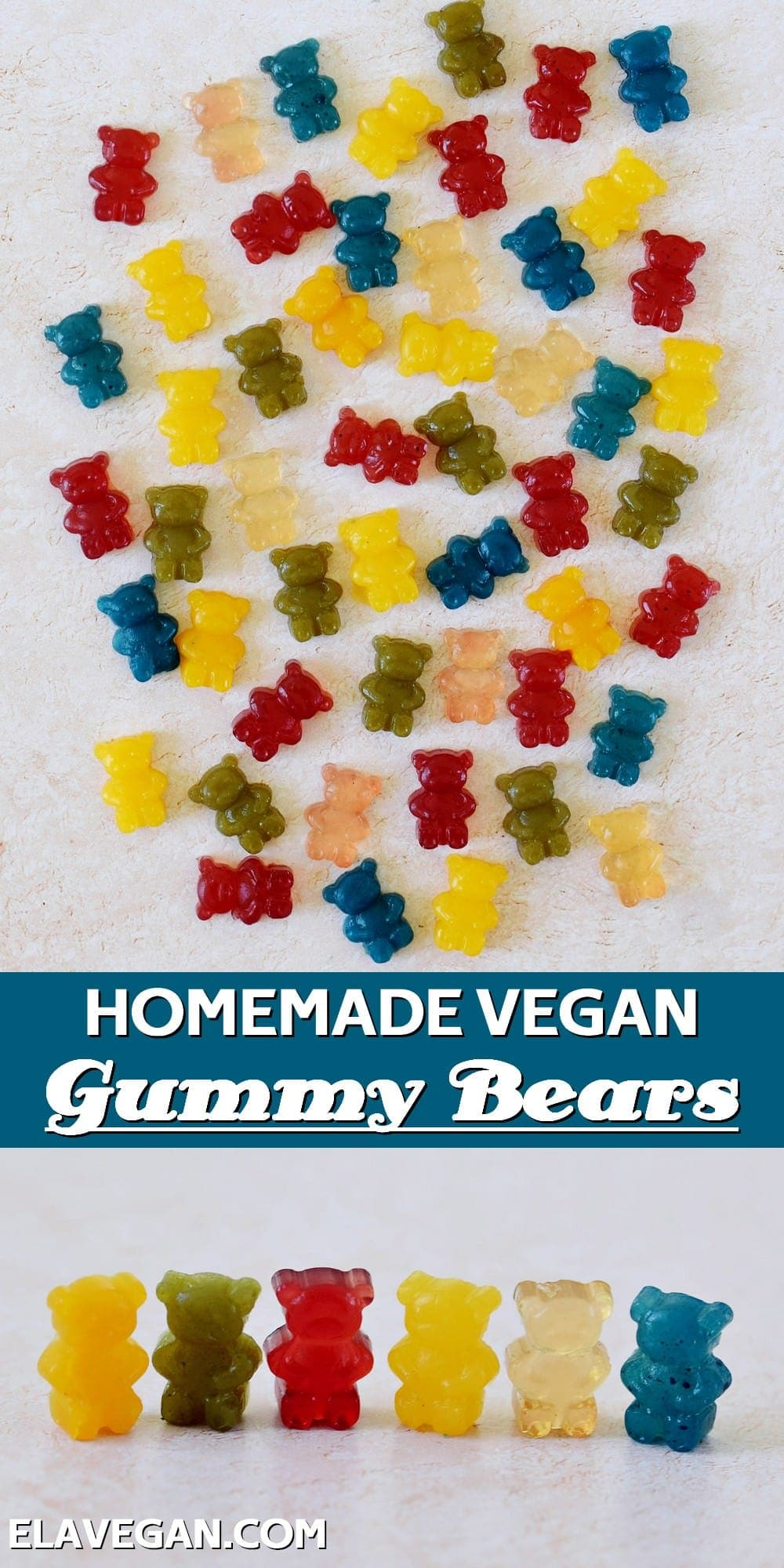 Pinterest collage homemade vegan gummy bears