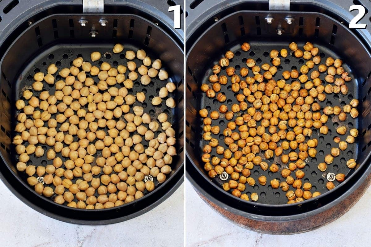 chickpeas in air fryer before and after